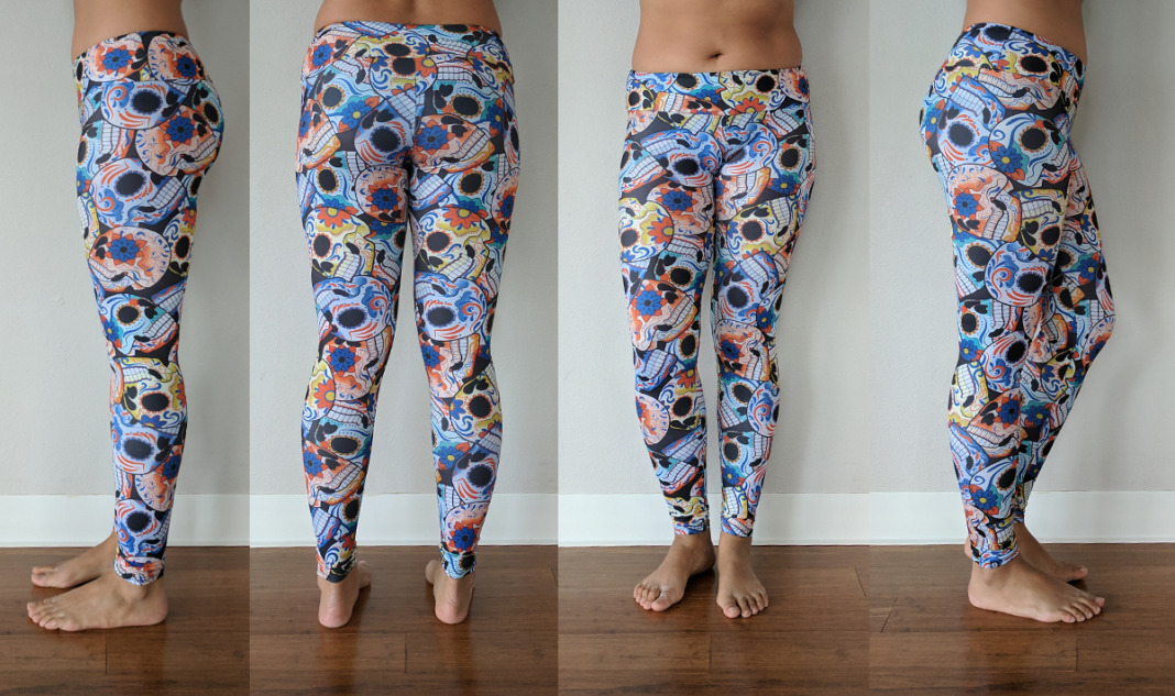onzie review day of the dead sugar skull leggings try on