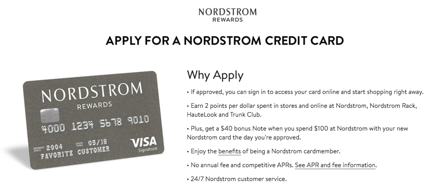 nordstrom rewards card how to apply