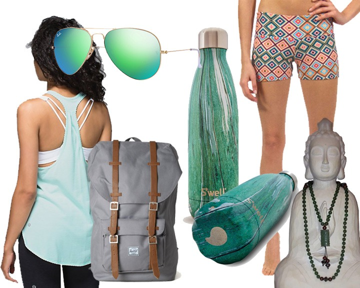 yoga outfit with swell bottle