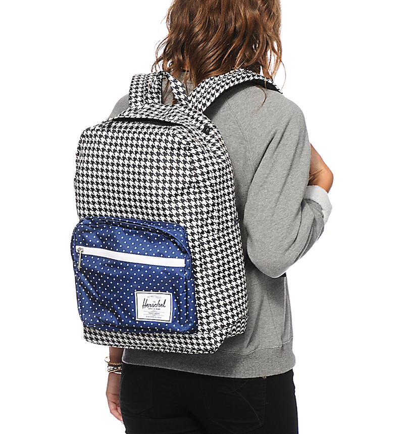 herschel pop quiz backpack houndstooth polka dot