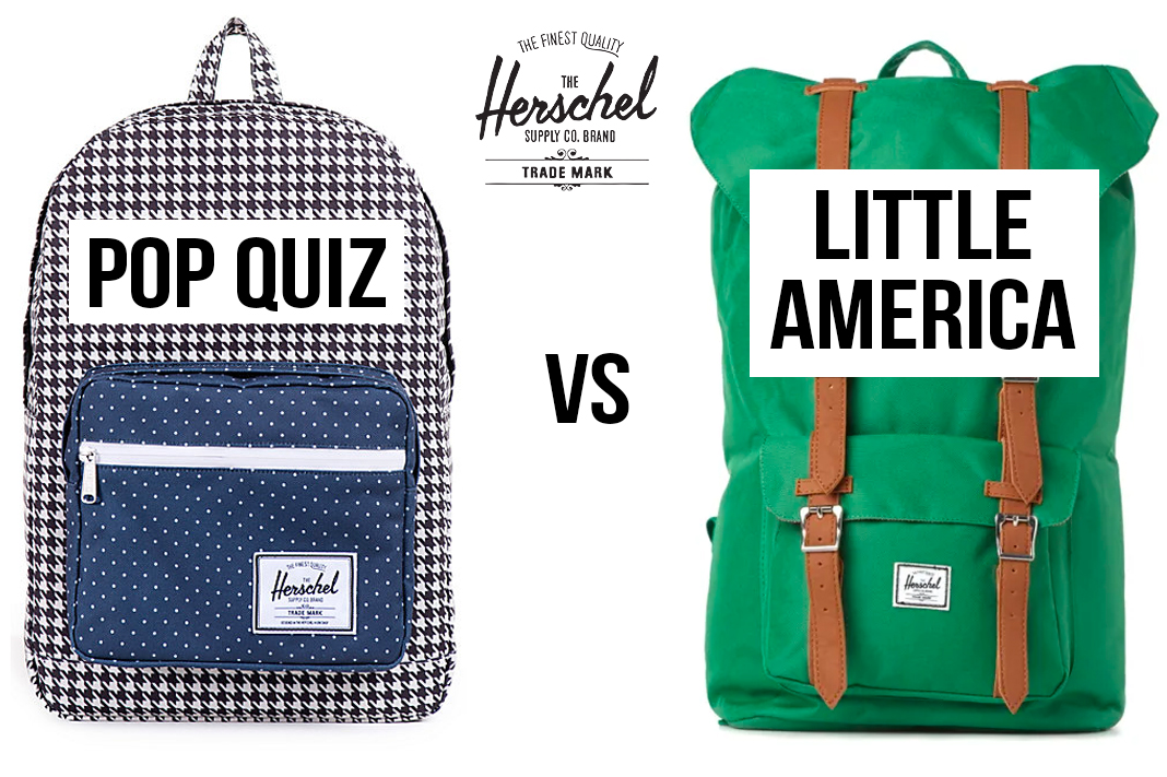 herschel supply co pop quiz versus little america backpack