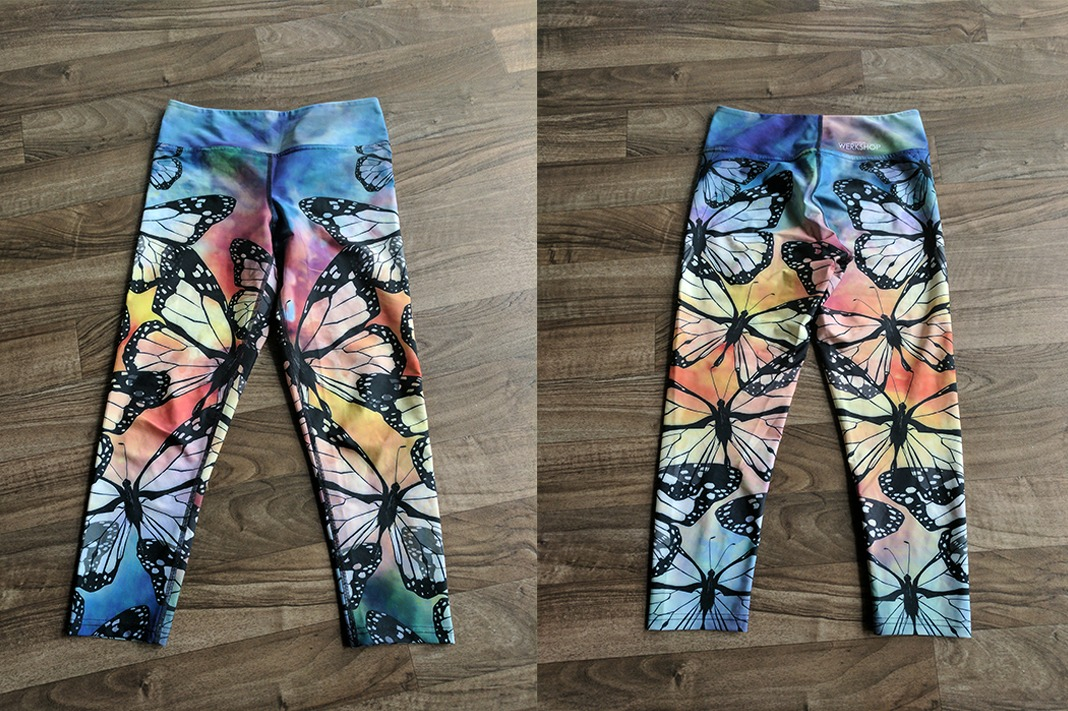 werkshop butterfly crop leggings front back