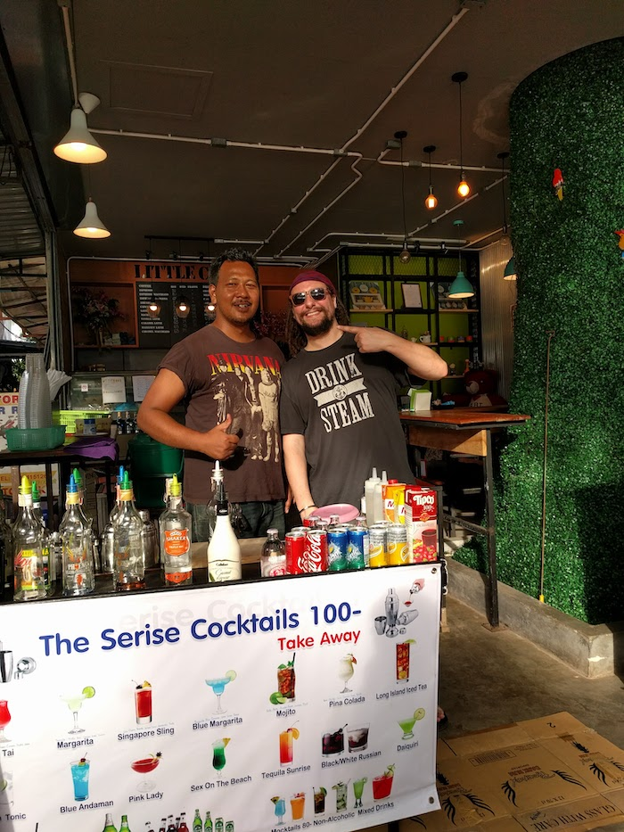 100 Baht cocktails on the streets of ao nang thailand