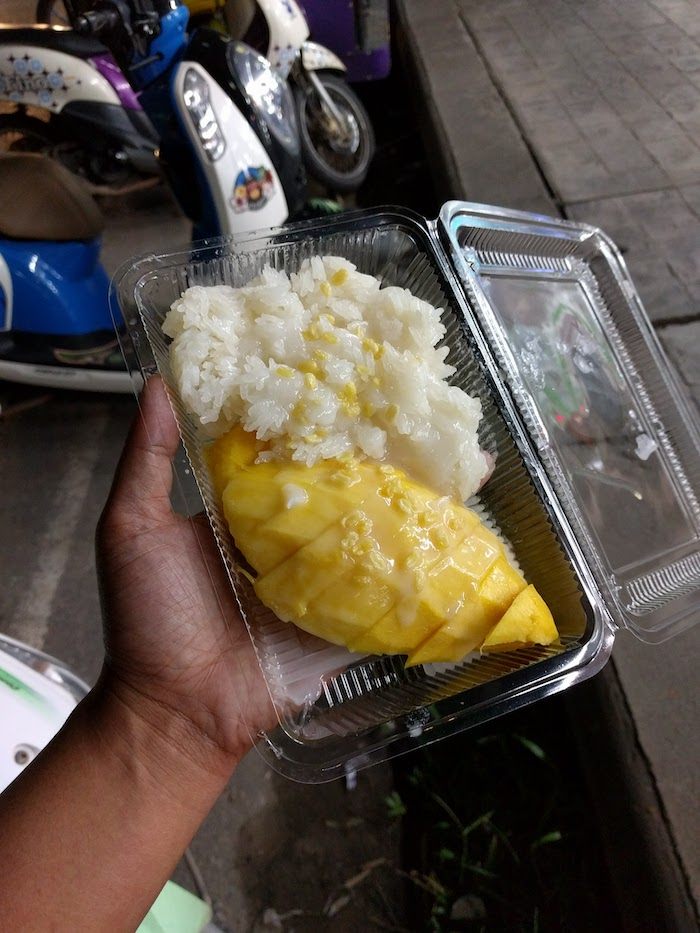 mango sticky rice in ao nang thailand