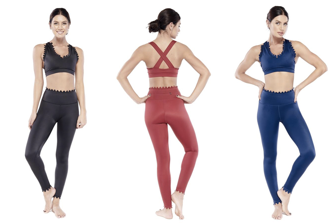 electric yoga dale bra elizabeth leggings scallop hemmed activewear schimiggy reviews