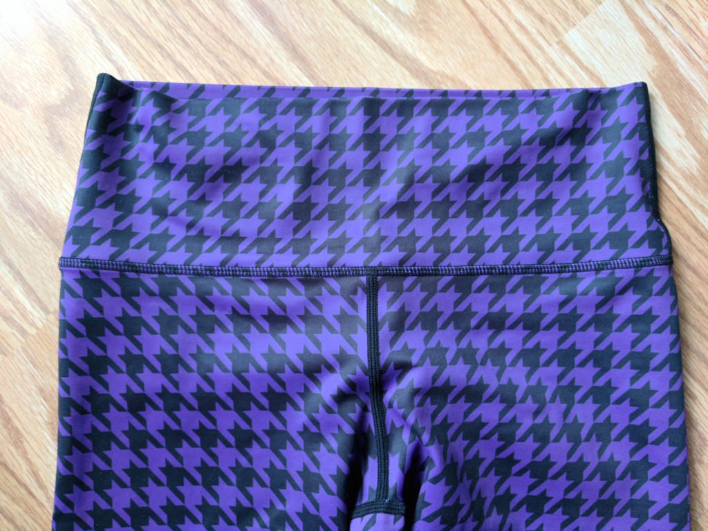 burd activewear purple ombre houndstooth leggings waistband