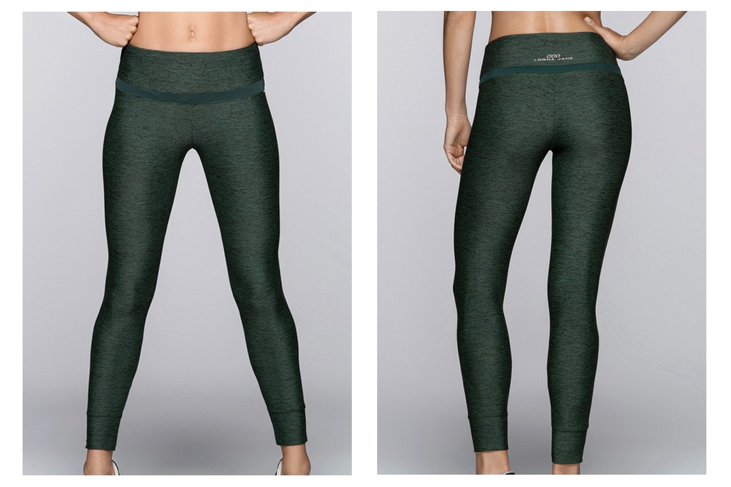 lorna jane flexion pants military marl
