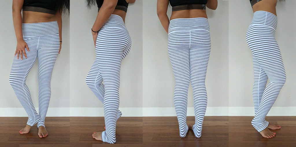 glyder stripe leggings review lululemon qs dupe