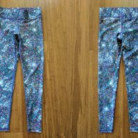 terez tall band sparkle leggings front and back