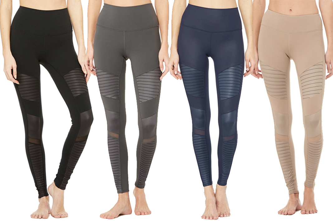 alo yoga moto leggings collection