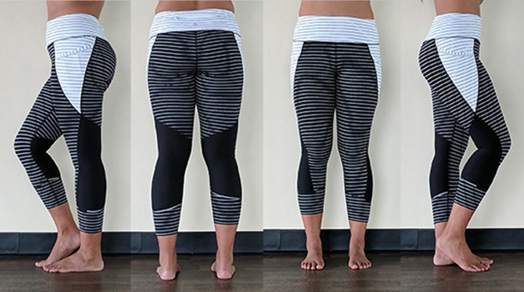 athleta relay stripe crop leggings review