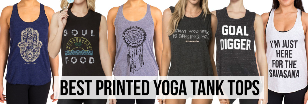 screen printed workout yoga tank tops