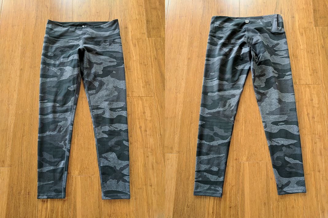 tuff leggings review camo mix grey front back