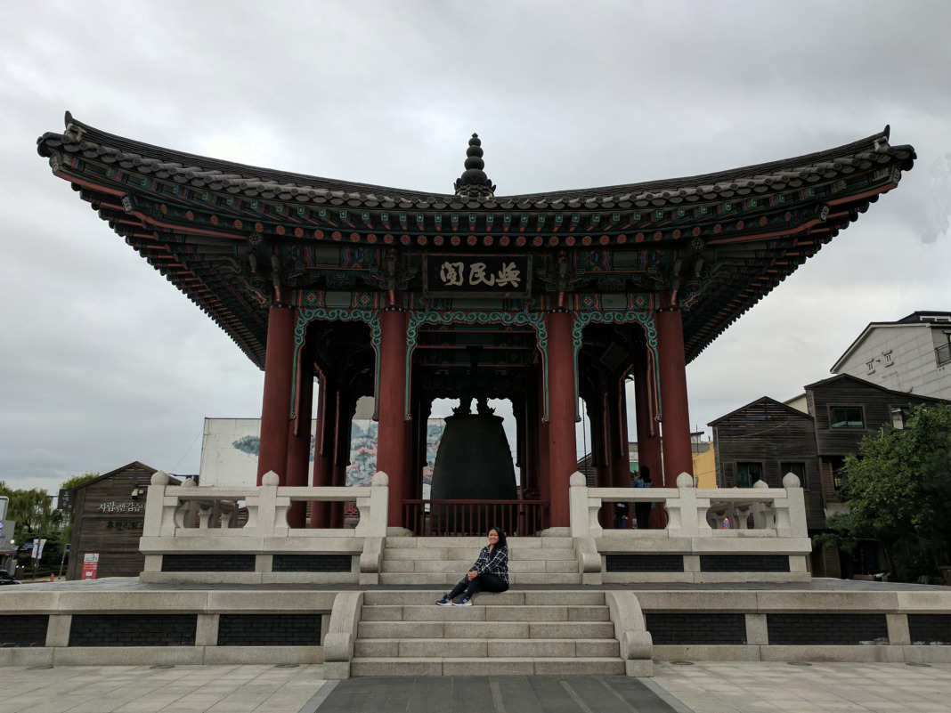 Bell pavilion hwaseong fortress schimiggy travels
