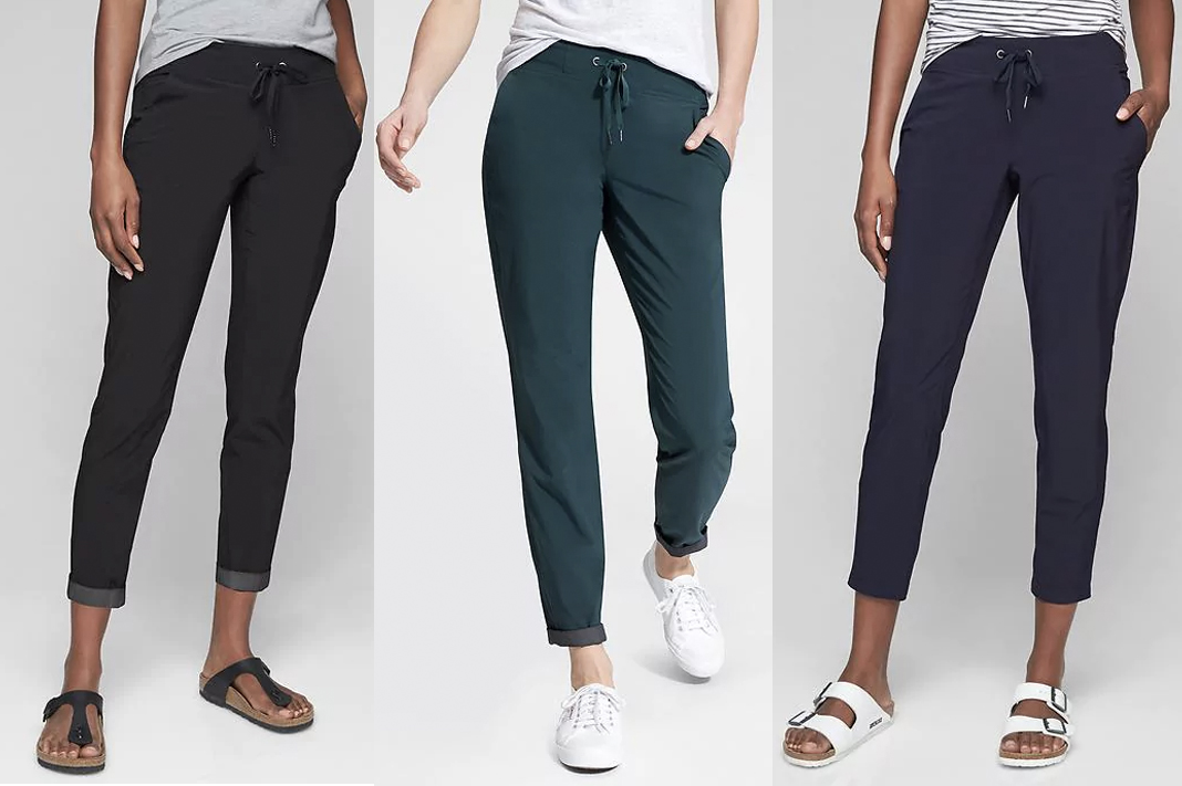 Best Comfortable Travel Pants | Athleta midtown ankle pant review