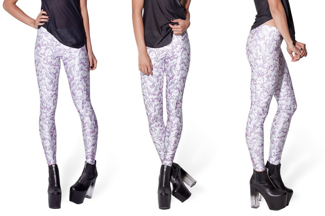 black milk unicorn leggings pink