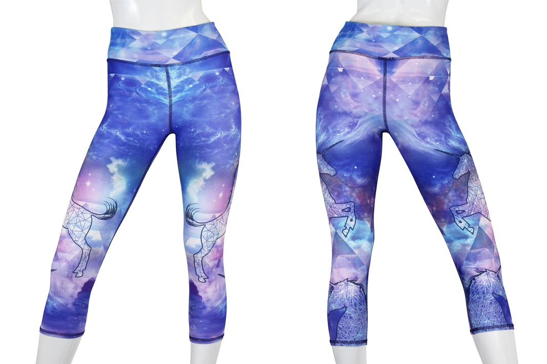 evolution and creation evce unicorn bliss crop leggings