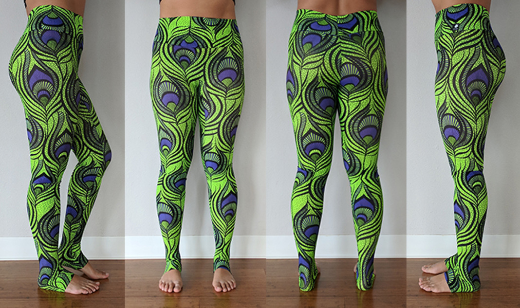 lineage wear leggings review peacock green purple try on
