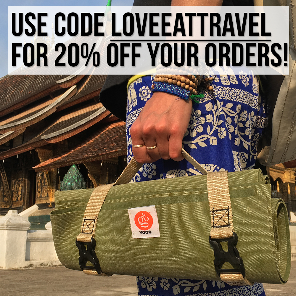 yogo travel yoga mat coupon code loveeattravel schimiggy