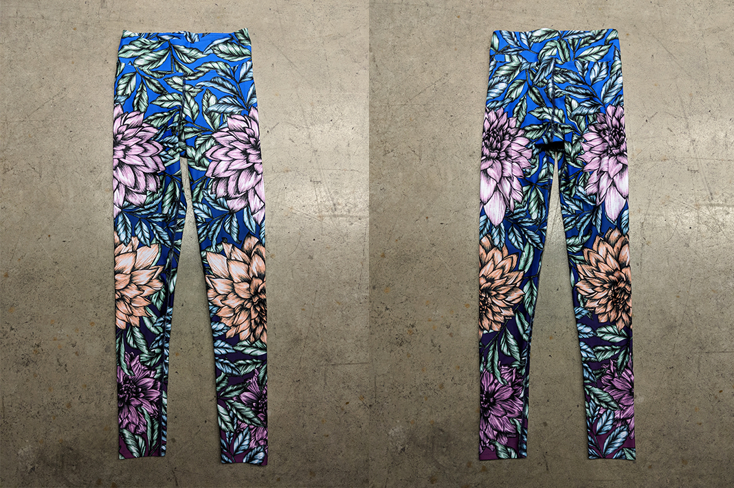 Dharma Bums - Summer High Waist Leggings - Front and Back