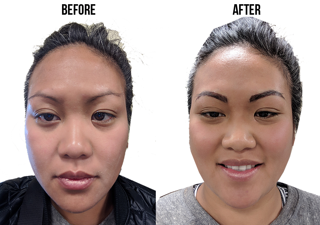 eyebrow microblading before and after procedure schimiggy review