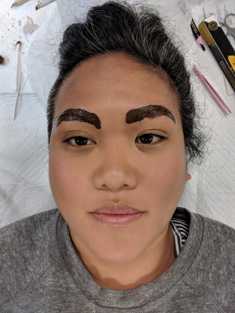 microblading procedure letting the dye sink in schimiggy reviews