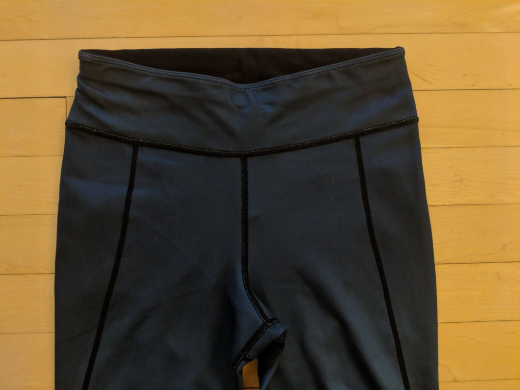 Sweaty Betty Review Chandrasana leggings waistband front