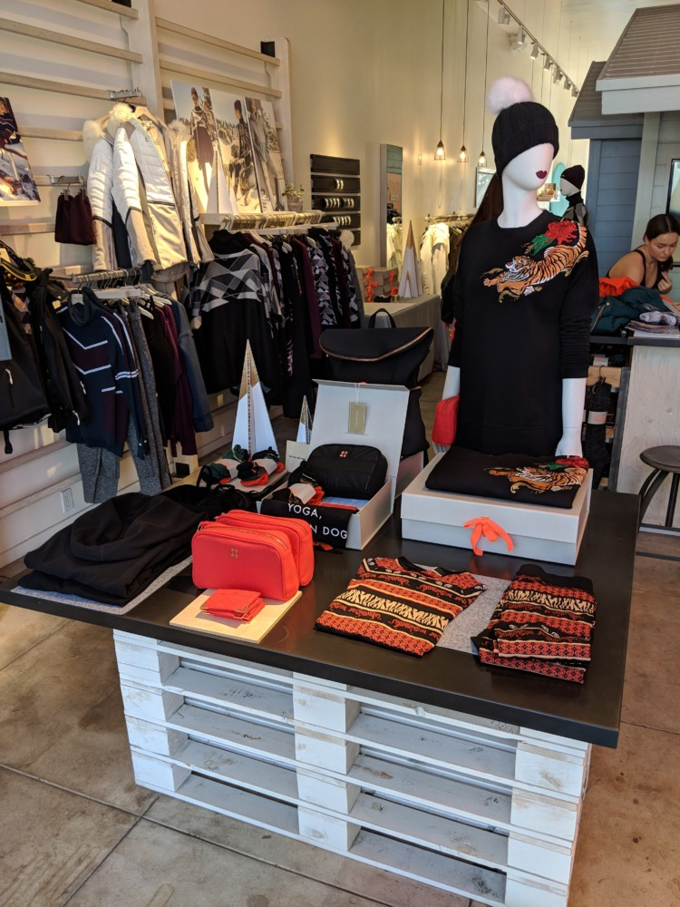 Sweaty Betty - Current Winter 2017 Collection on display table