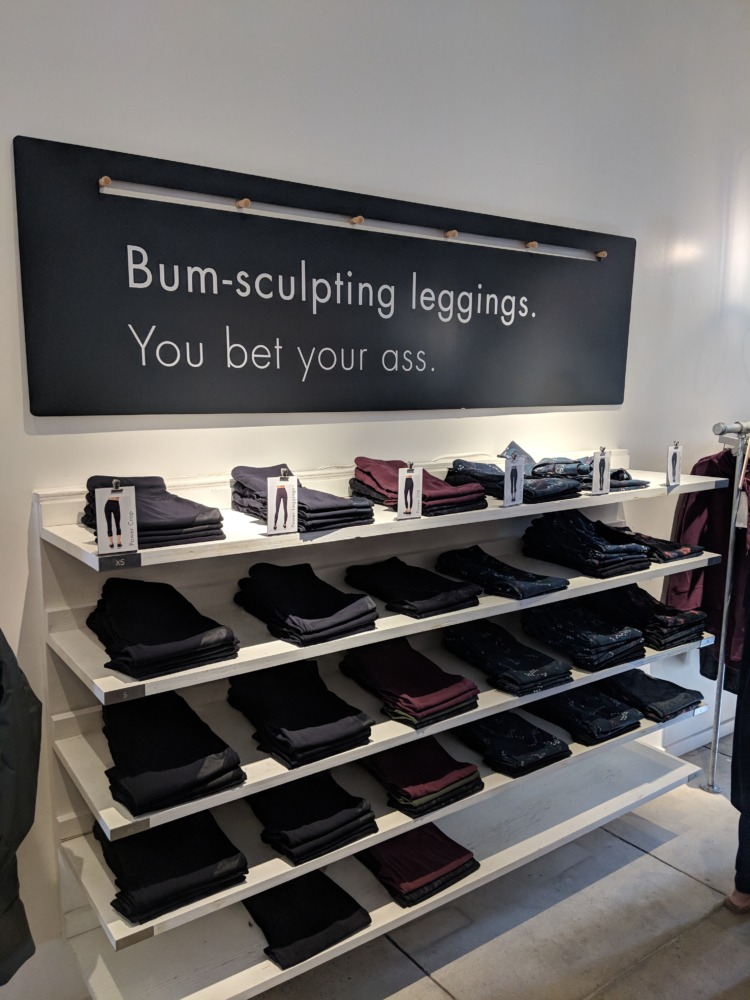 Sweaty Betty Leggings Display