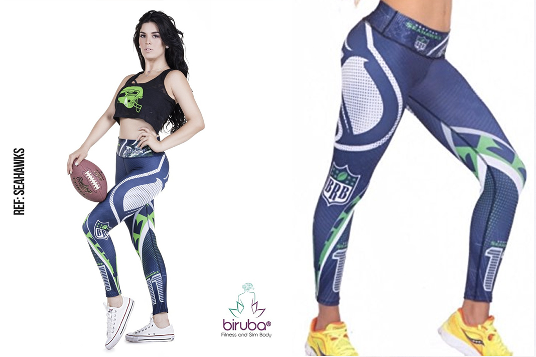 biruba seahawks team leggings schimiggy