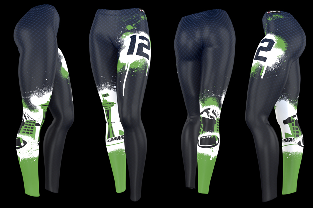 bombsheller seahawk leggings #wearetwelve yoga pants
