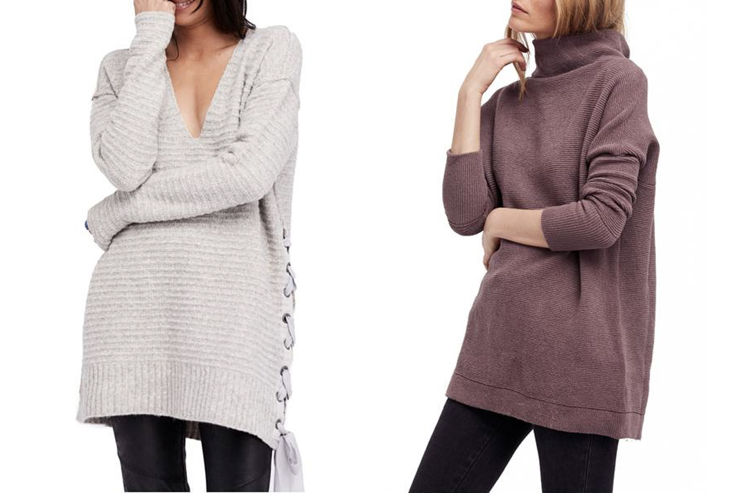 free people heart it laces and ottoman slouchy tunic sweaters