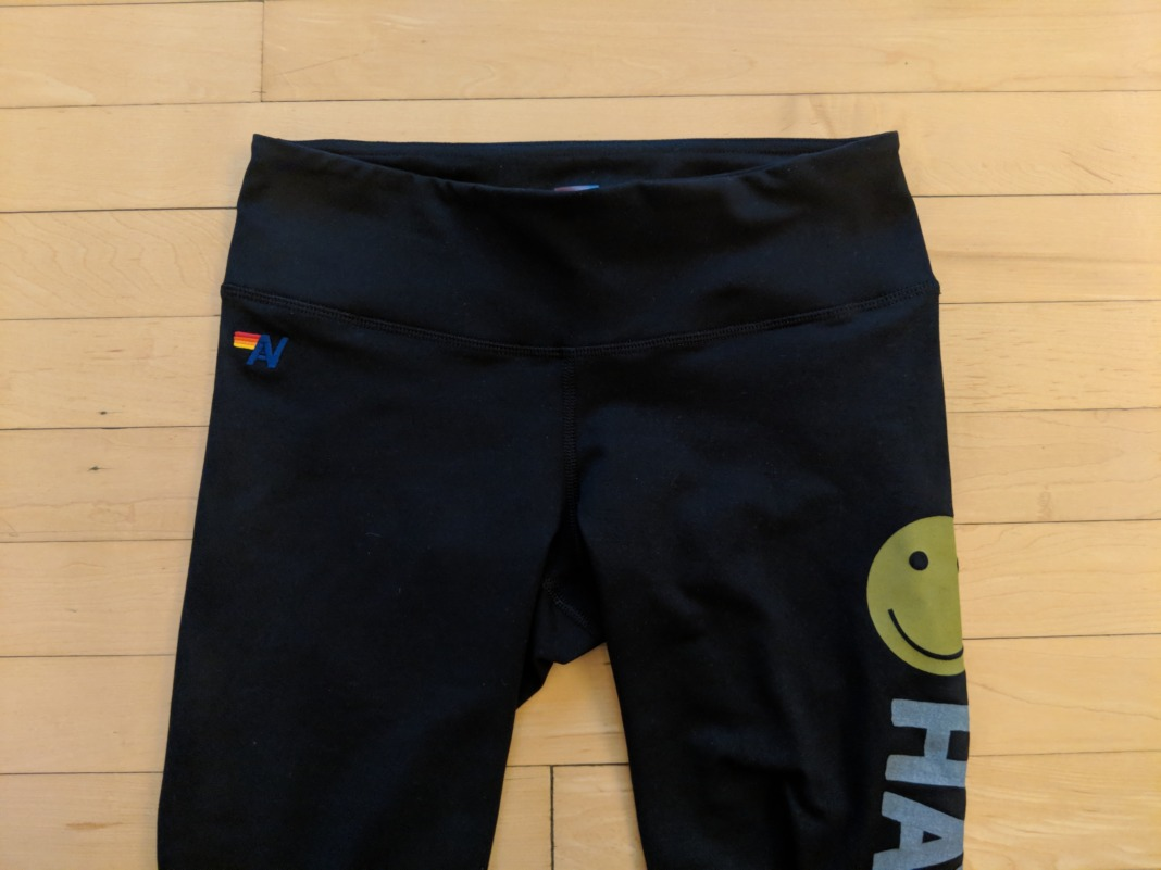 aviator nation review have a rad day leggings waistband front