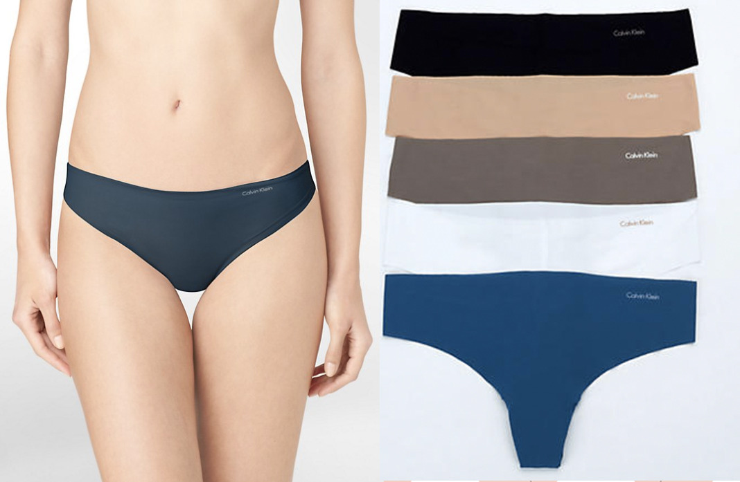 calvin klein invisibles thong and panty schimiggy