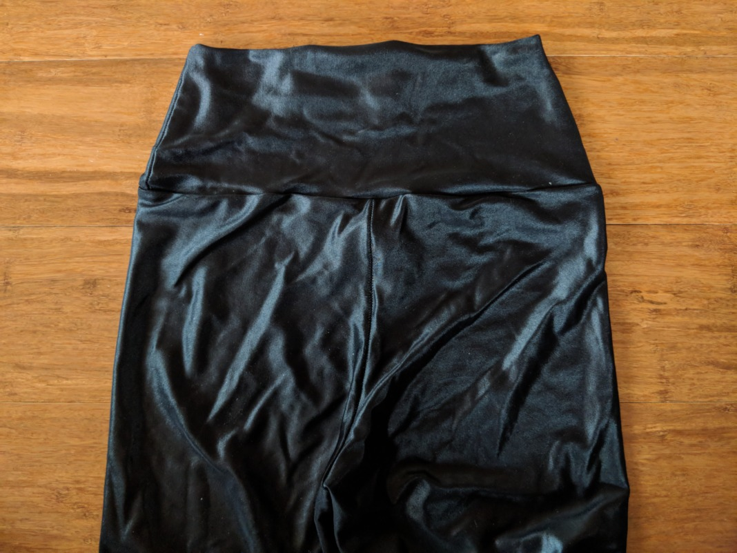 Forlegs review high waist shiny leggings waistband back