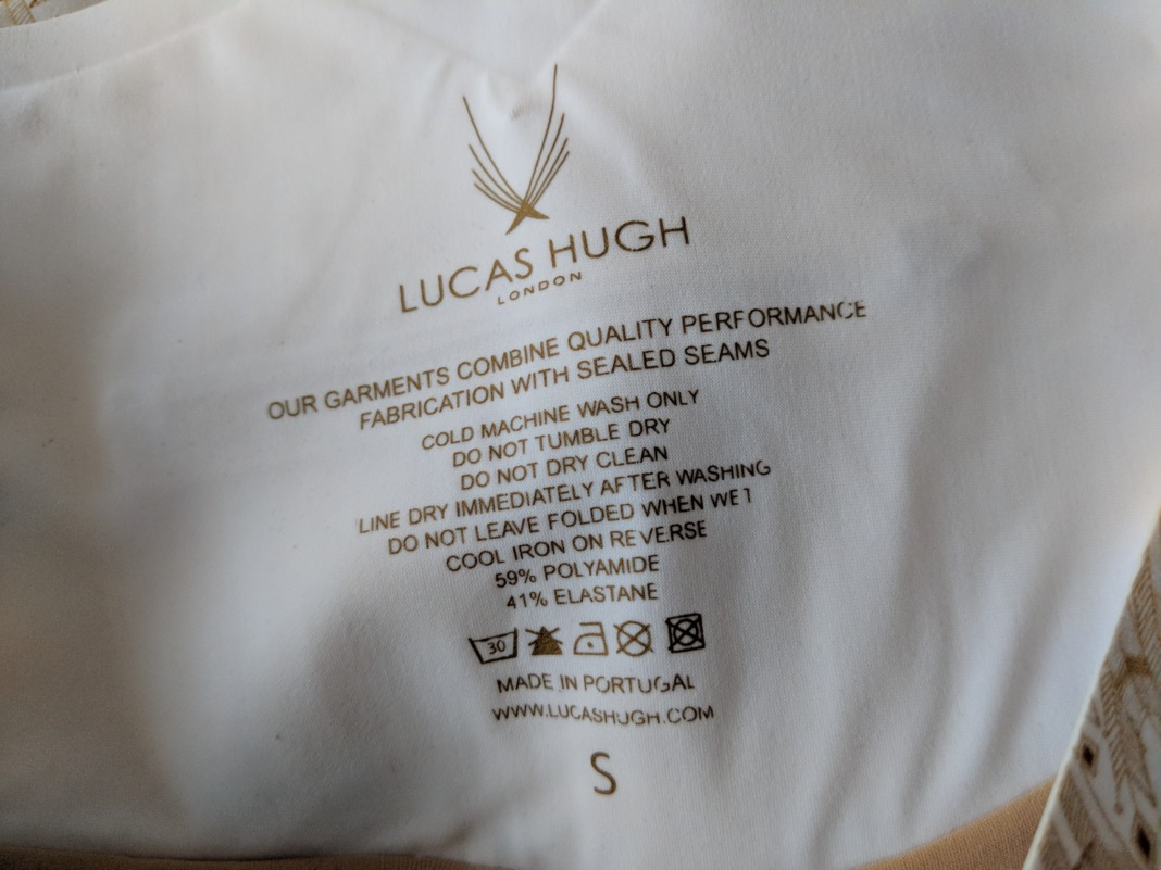 Lucas Hugh Goldleaf Leggings - Label Detail