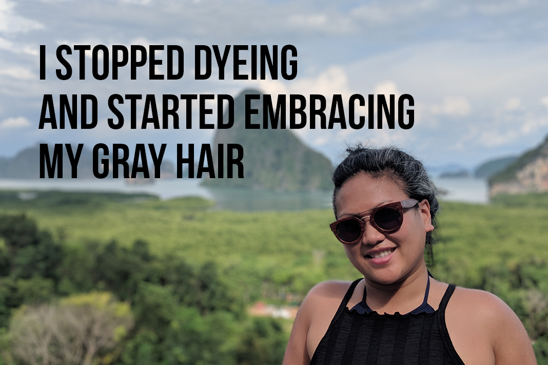stop dyeing and transition to grey hair schimiggy reviews