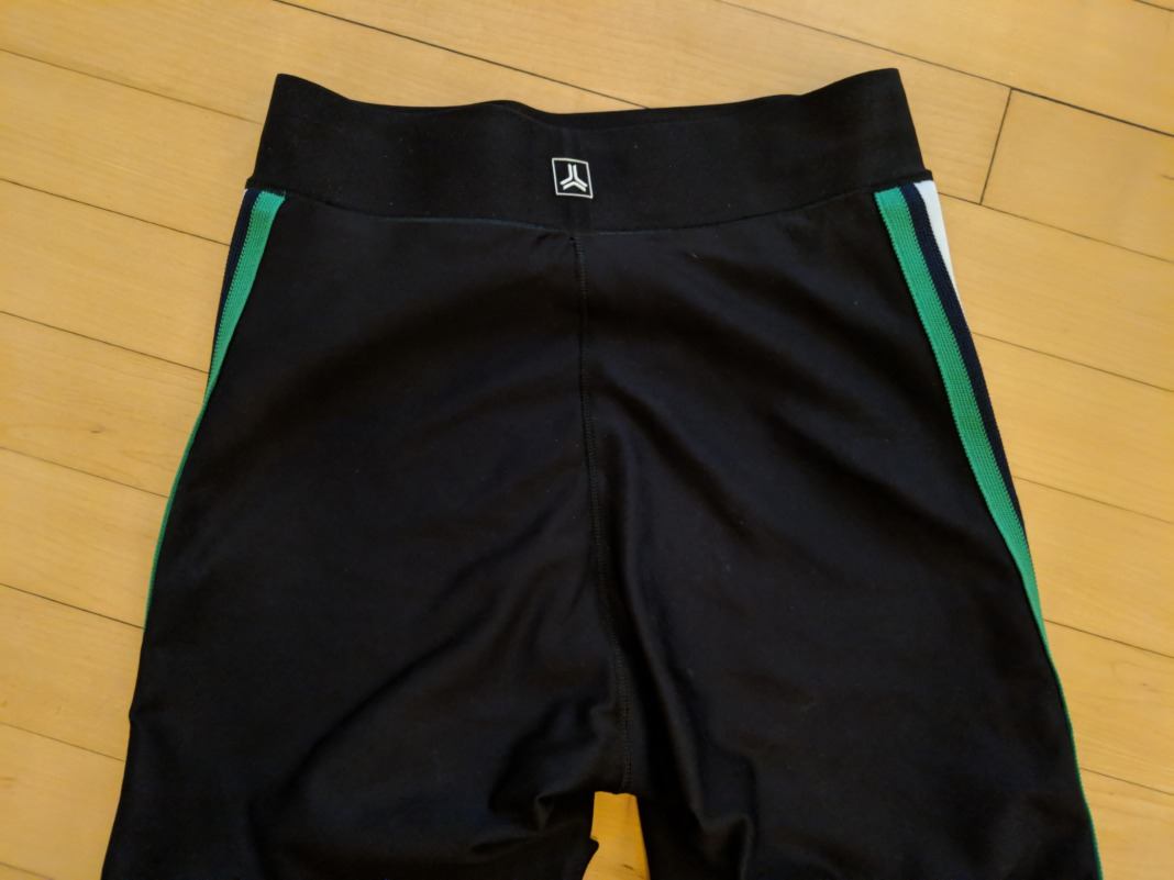 ultracor review ultra high waist collegiate leggings waistband back