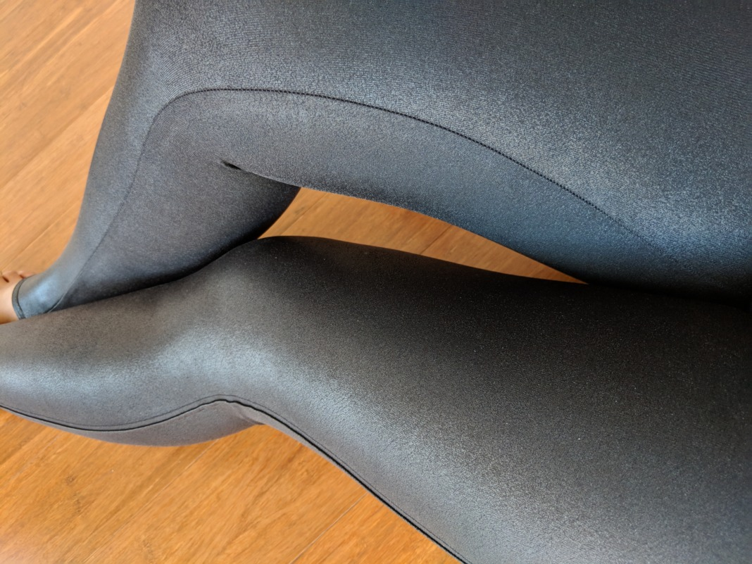 SPANX - Faux Leather Leggings - Outseam Detail