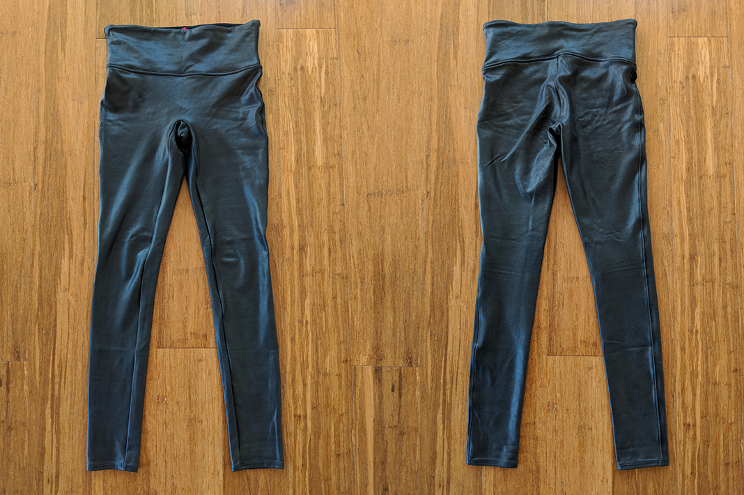 SPANX - Leather Look Leggings (front and back)