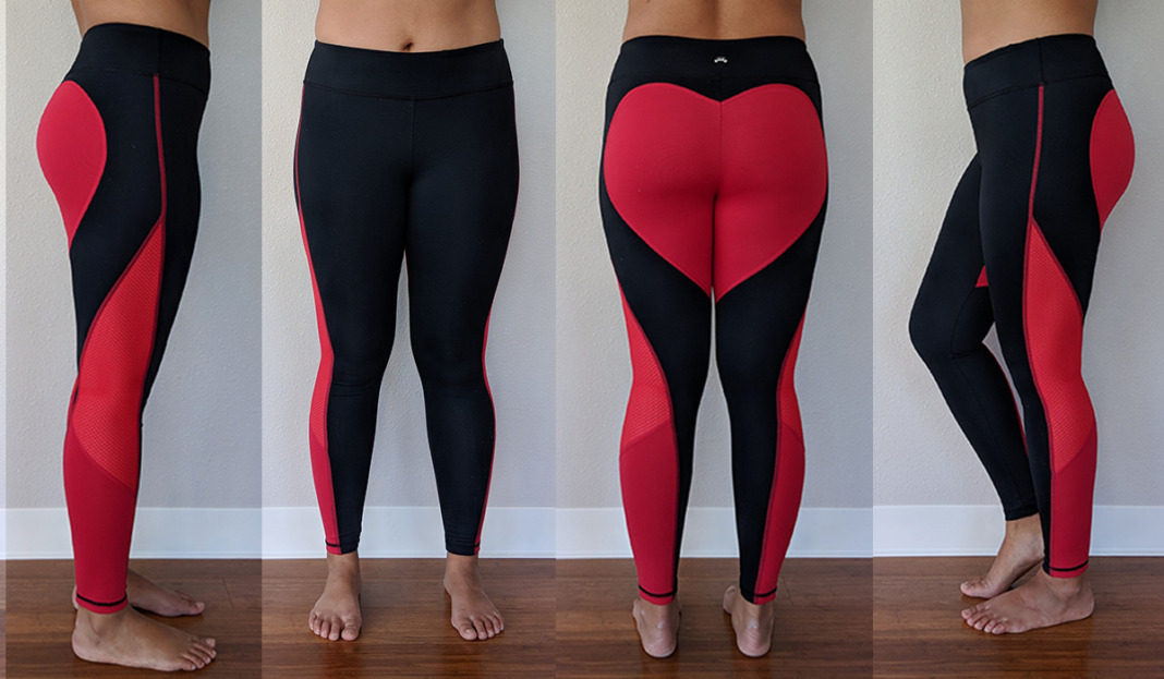 barbells to bombshells heart booty leggings try on schimiggy