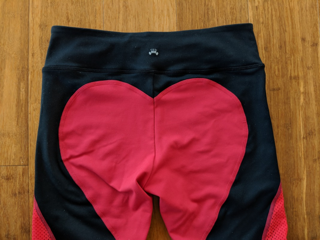 Barbells to Bombshells - Heart Booty Leggings - Waistband (back)