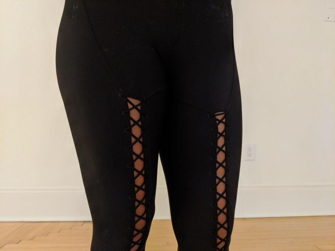Carbon38 Jonathan Simkhai collection - Lace Up Corset Leggings - lace up detail