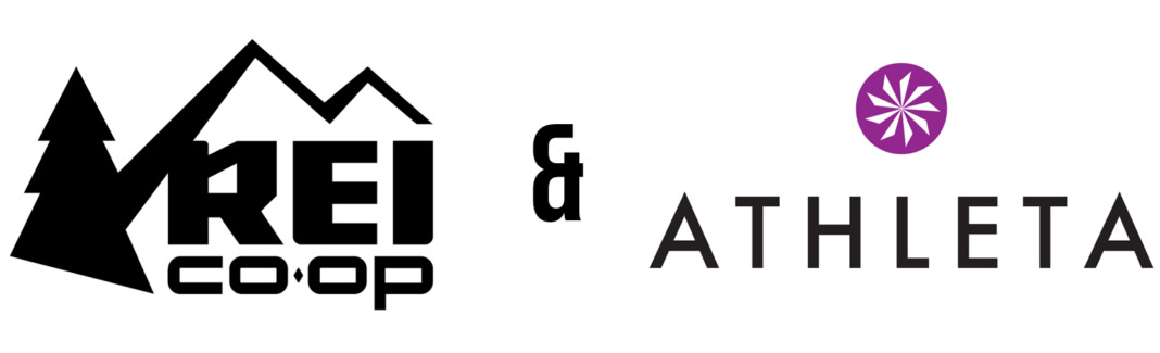 rei and athleta partnership logo