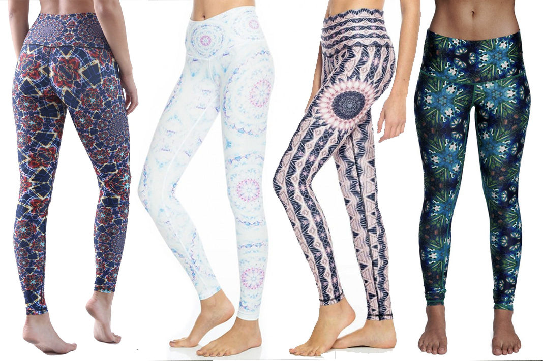 Wolven Threads Leggings (left to right): Moonlight Mandala, Starseed, Heliocentric and Triangulate.