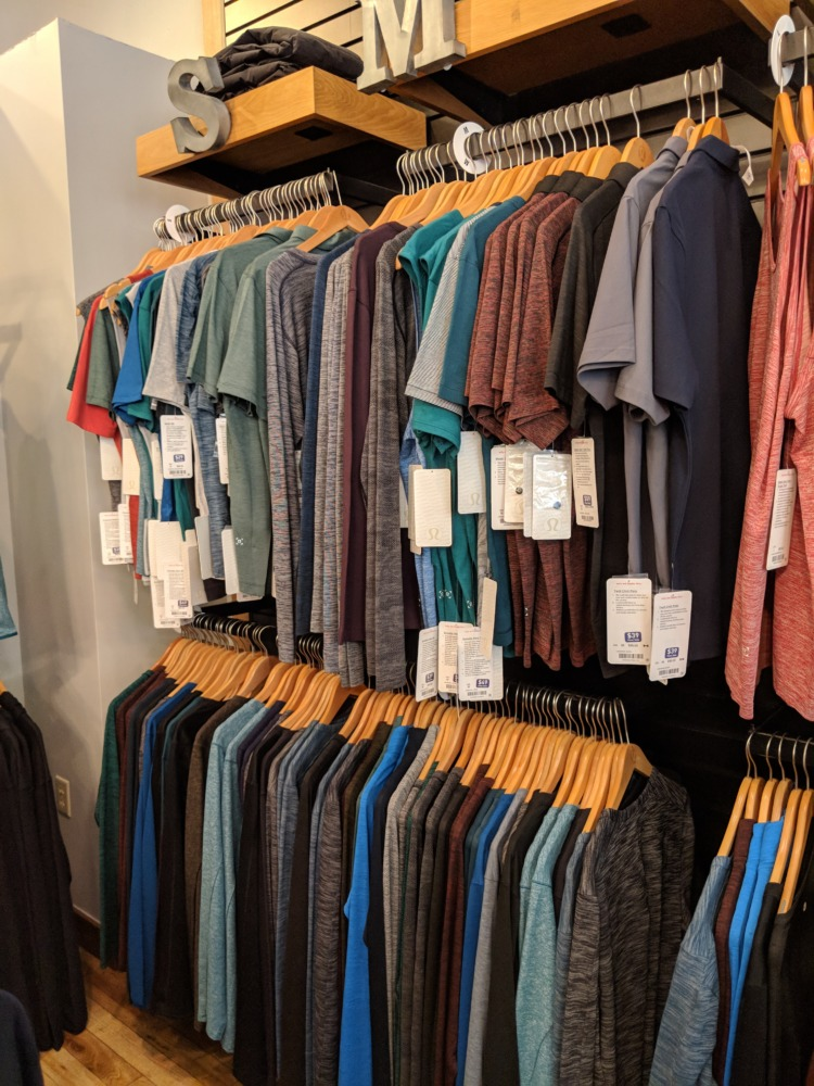lululemon Outlet Orlando Florida mens small and medium tops