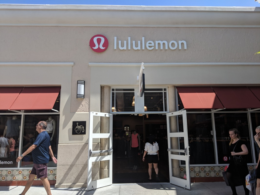 lululemon Outlet Orlando Florida store entrance