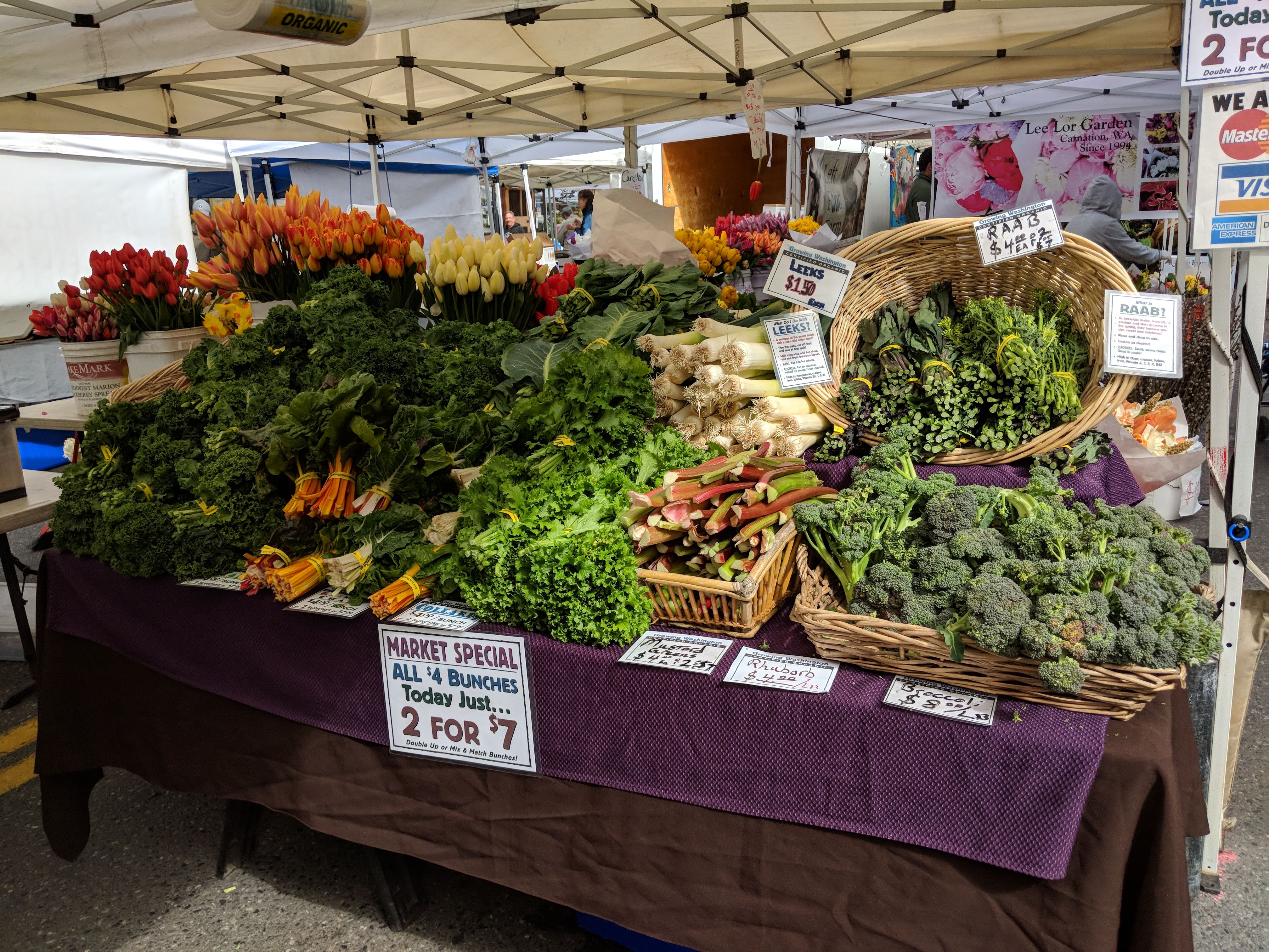 west seattle farmers market sunday produce vegetable stand