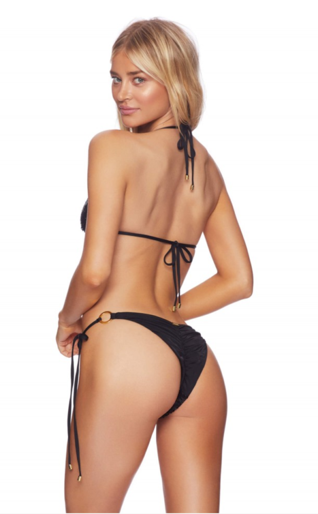 beach bunny siren song black sequin bikini sexy back