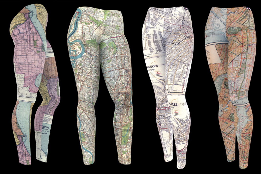 bombsheller travel map wanderlust leggings schimiggy reviews